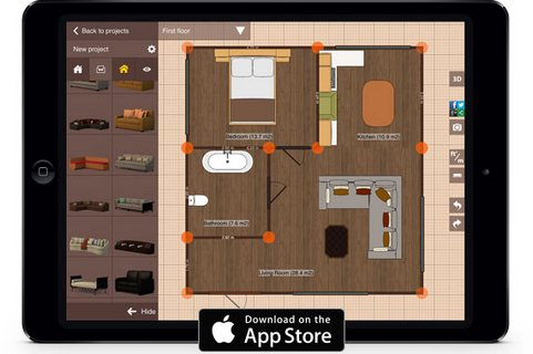 Home design software interior design tool online for for App para planos