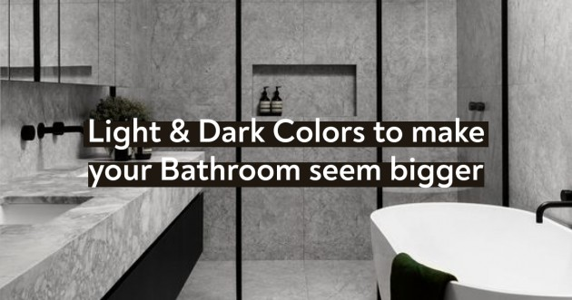 Light & Dark Colors to make your Bathroom seem bigger - Articles about Apartments 1 by Anonymous image