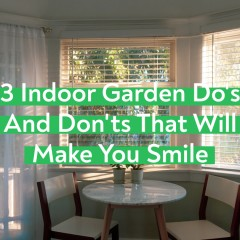 3 Do's And Don'ts For an Indoor Garden That Will Make You Smile