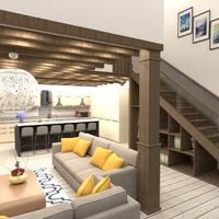 foto decorazioni saggiorno cucina illuminazione architettura idee
