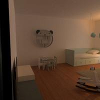 nuotraukos miegamasis vaikų kambarys idėjos