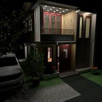fotos casa área externa iluminação ideias