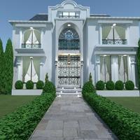 foto casa veranda illuminazione paesaggio architettura idee