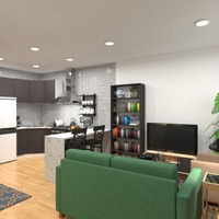 photos apartment living room kitchen studio ideas