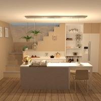 zdjęcia mieszkanie wystrój wnętrz kuchnia oświetlenie jadalnia pomysły
