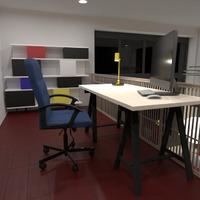 foto arredamento decorazioni studio illuminazione monolocale idee