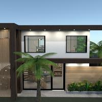 photos maison extérieur eclairage paysage architecture idées