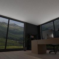 fotos muebles decoración despacho iluminación ideas