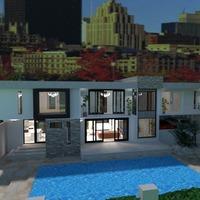 fotos casa varanda inferior área externa paisagismo arquitetura ideias