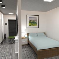 nuotraukos butas baldai dekoras miegamasis studija idėjos