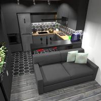 nuotraukos butas baldai dekoras virtuvė studija idėjos