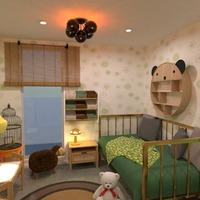 nuotraukos namas miegamasis vaikų kambarys idėjos