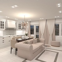 fotos apartamento salón cocina iluminación reforma ideas