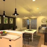 fotos apartamento salón cocina iluminación comedor ideas