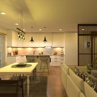 zdjęcia mieszkanie pokój dzienny kuchnia oświetlenie pomysły