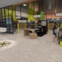 nuotraukos biuras apšvietimas аrchitektūra prieškambaris idėjos