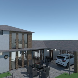 fotos casa varanda inferior garagem área externa ideias