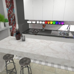 photos maison cuisine eclairage maison espace de rangement idées