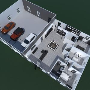 nuotraukos namas garažas idėjos