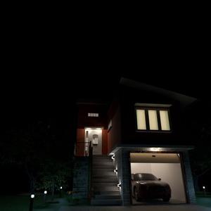 fotos haus garage beleuchtung ideen