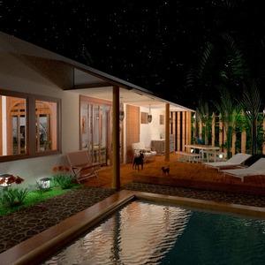 fotos casa área externa iluminação paisagismo arquitetura ideias