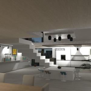 идеи декор гостиная кухня освещение столовая идеи