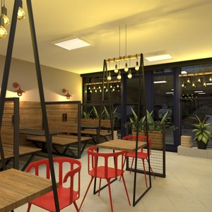 fotos terraza muebles decoración iluminación cafetería ideas