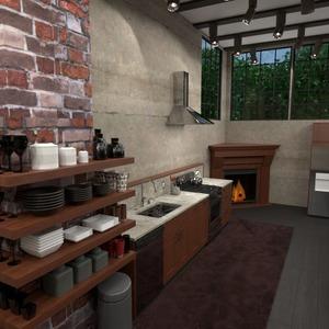 photos maison cuisine eclairage salle à manger espace de rangement idées