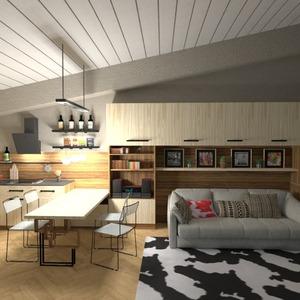 фото гостиная кухня освещение идеи