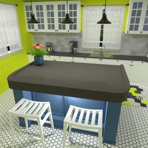 photos maison cuisine eclairage espace de rangement idées