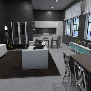 nuotraukos svetainė virtuvė valgomasis idėjos