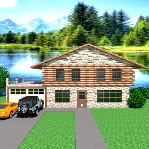ideas house terrace garage outdoor landscape architecture storage ideas