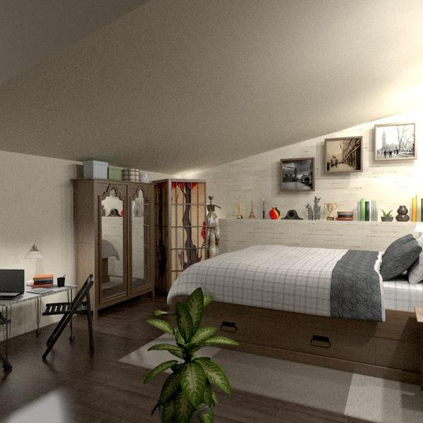 zdjęcia meble wystrój wnętrz sypialnia oświetlenie mieszkanie typu studio pomysły