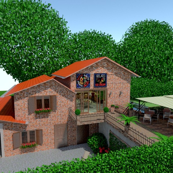 photos house terrace landscape cafe ideas