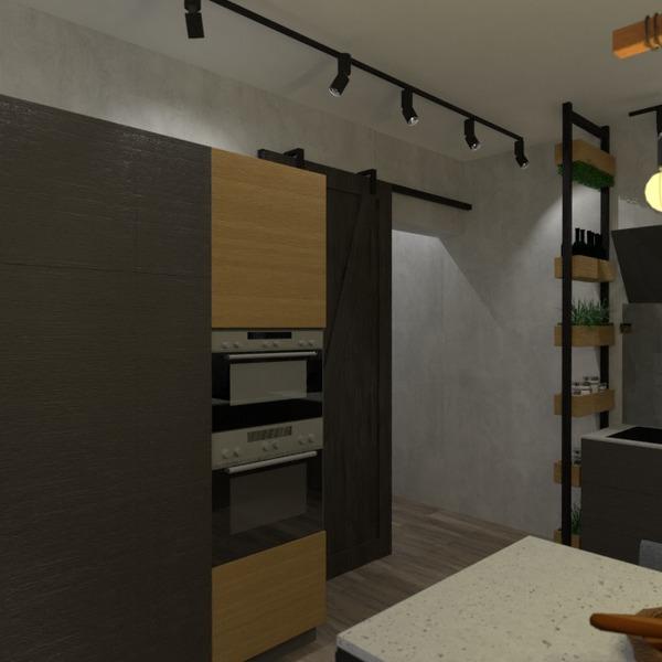 nuotraukos butas baldai svetainė virtuvė studija idėjos