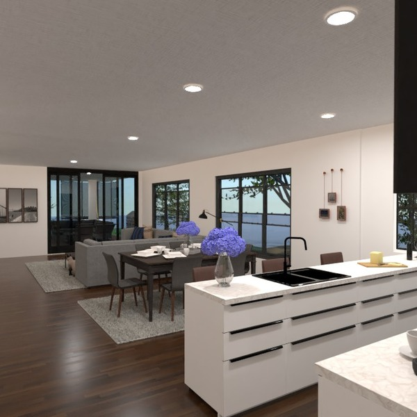 fotos casa salón cocina iluminación descansillo ideas