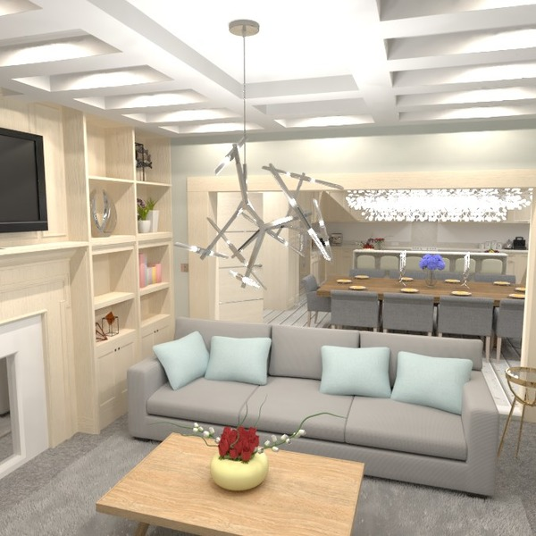 photos décoration salon cuisine eclairage salle à manger idées