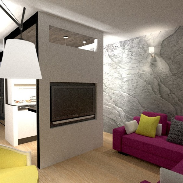 zdjęcia mieszkanie wystrój wnętrz pokój dzienny kuchnia oświetlenie remont mieszkanie typu studio pomysły