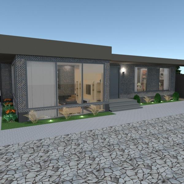 foto casa garage esterno illuminazione rinnovo paesaggio vano scale idee