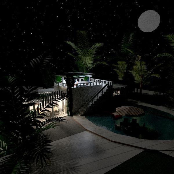 foto casa esterno illuminazione paesaggio idee