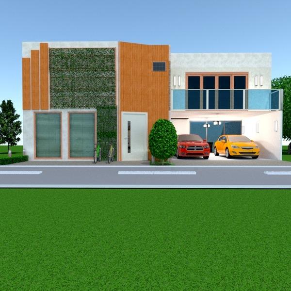 photos maison décoration garage extérieur eclairage architecture idées