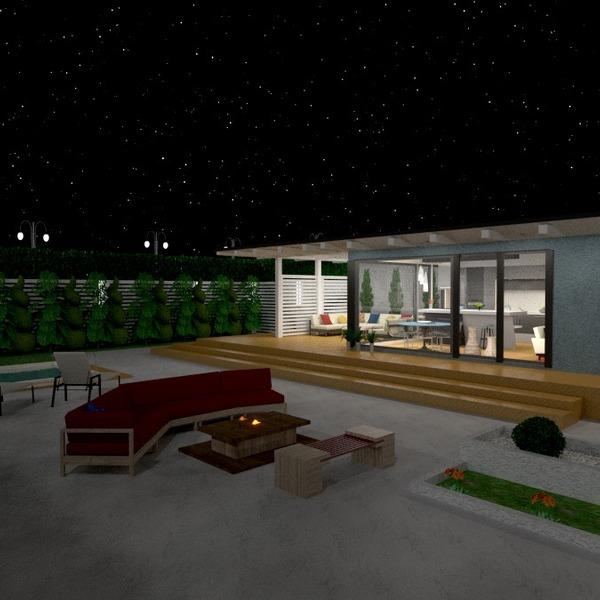 nuotraukos namas terasa eksterjeras apšvietimas kraštovaizdis prieškambaris idėjos