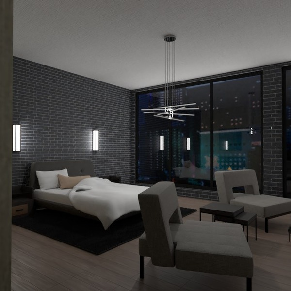 photos appartement décoration chambre à coucher eclairage rénovation idées