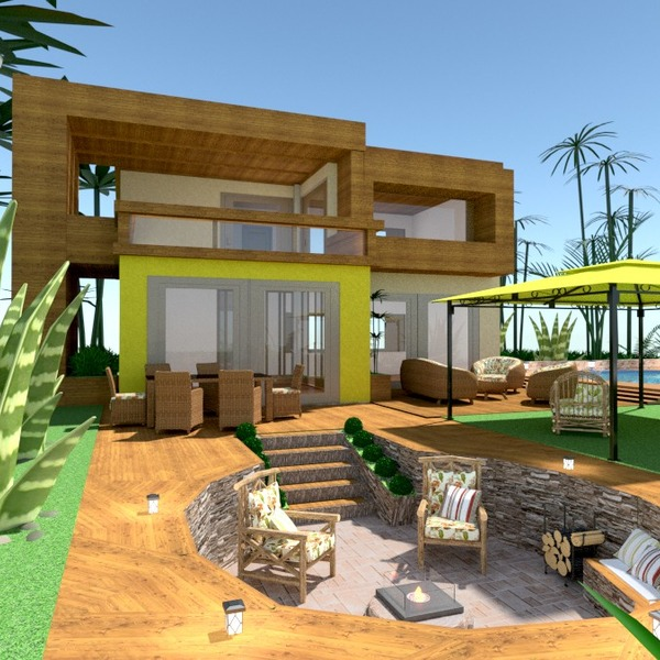 photos house terrace decor lighting landscape architecture ideas