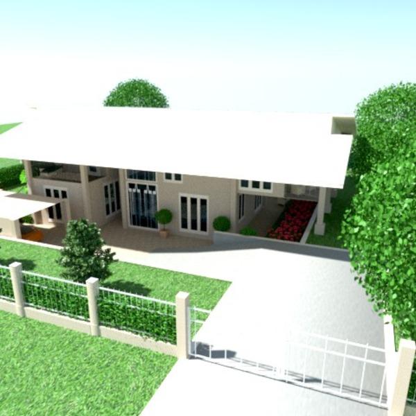 fotos haus terrasse garage outdoor landschaft ideen