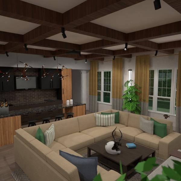 nuotraukos butas namas baldai svetainė virtuvė idėjos