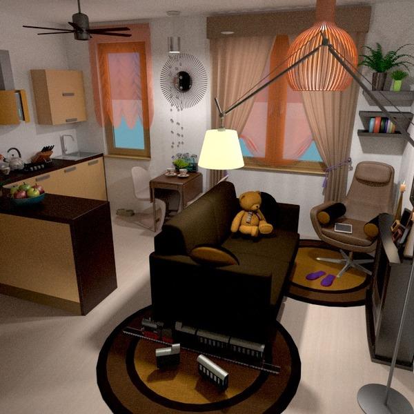 photos appartement décoration salon cuisine studio idées