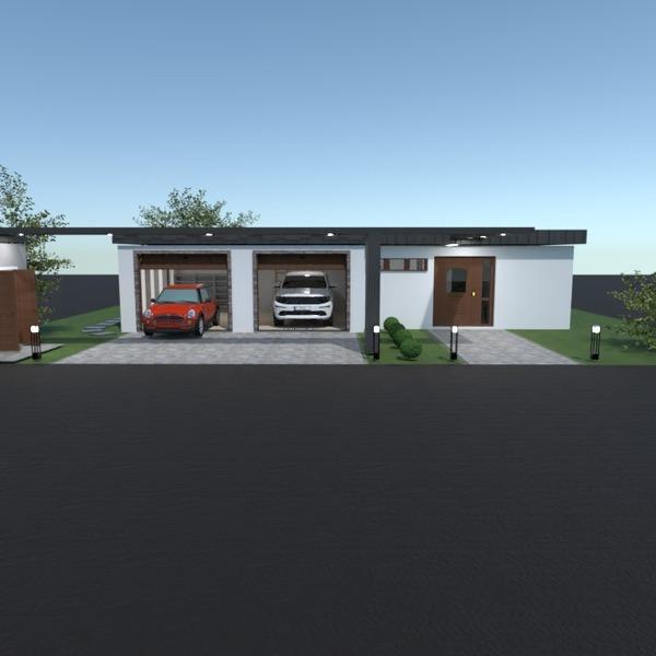 photos maison garage eclairage paysage espace de rangement idées