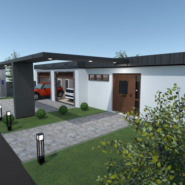 photos maison garage paysage espace de rangement idées