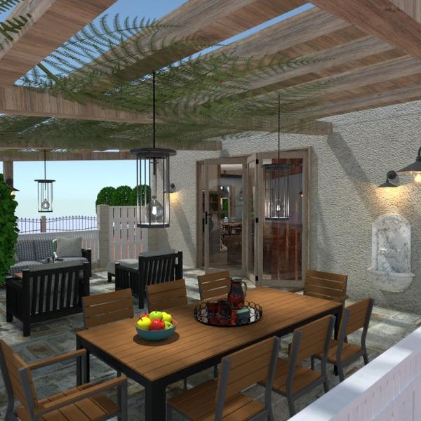 nuotraukos butas eksterjeras apšvietimas renovacija idėjos